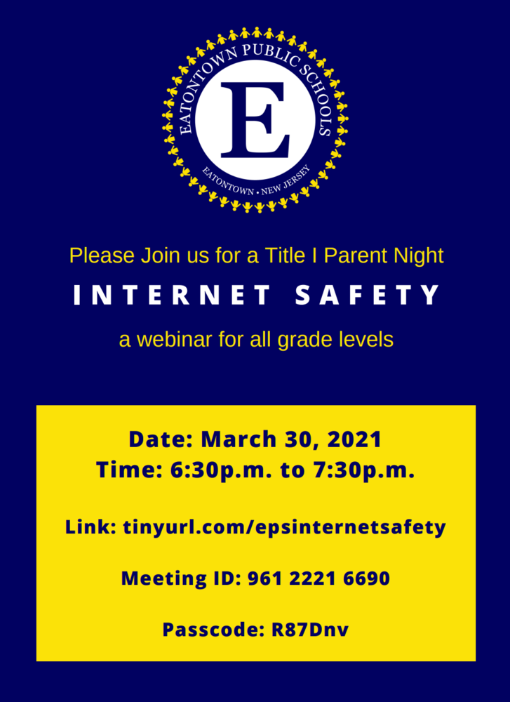 Title I Parent Night on Internet Safety