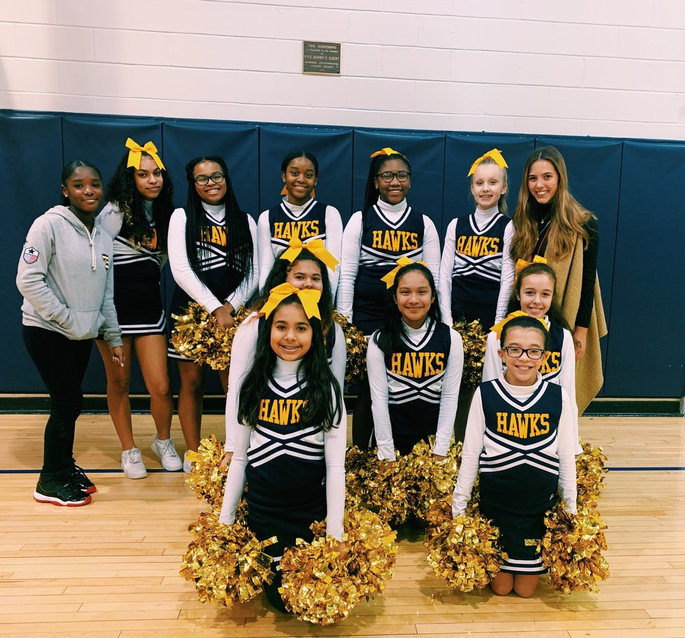 2019-2020 Memorial Middle School Cheerleading Team